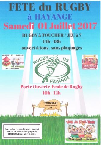 Fête du Rugby à HAYANGE le 1er juillet
