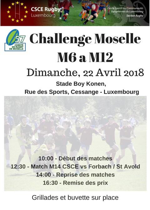 Flyer Challenge de Moselle Luxembourg-Cessange